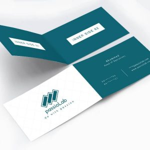 Folded business cards rich print solutions reheart Choice Image